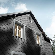 Aluminum cladding / lozenge-patterned / shingle / aluminum look