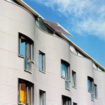 Ventilated facade cladding / aluminum / corrugated / panel