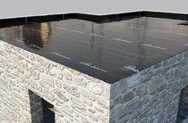 Low-density polyethylene (LDPE) waterproofing membrane / for floors / foundation