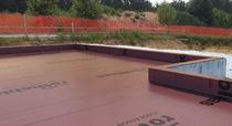 HDPE waterproofing membrane / for floors