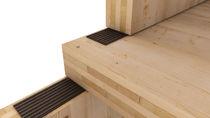 Sheet sound-insulating underlay / elastomer