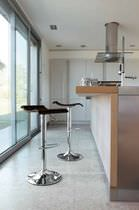 Bar stool / contemporary / adjustable