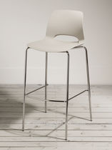 Bar chair / contemporary / metal / standard base