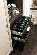 Residential wine cabinet / built-in / undercounter / metal