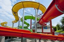 Curved slide / for playgrounds