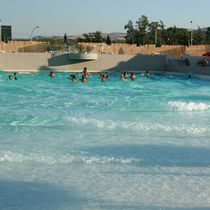 In-ground swimming pool / concrete / for aquatic parks / wave
