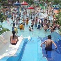 Upright slide / for water parks / multiple