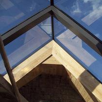 Fixed roof window / aluminum / double-glazed
