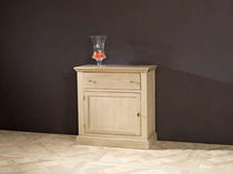Traditional sideboard table / oak / with drawer / with storage compartment