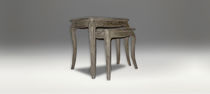 Traditional nesting tables / wooden
