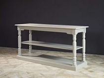 Traditional table / oak / with storage compartment