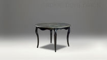 Traditional dining table / wooden / marble