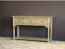 Traditional sideboard table / oak / with drawer