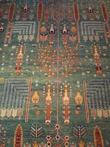 Traditional rug / wool / patterned / handmade
