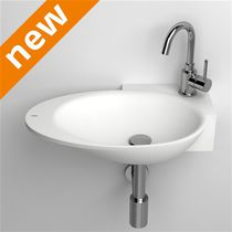 Wall-mounted hand basin / oval / Cristalplant®