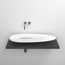 Countertop washbasin / oval / Cristalplant® / contemporary