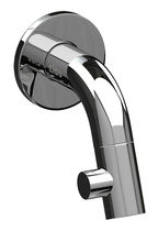 Washbasin mixer tap / wall-mounted / chromed metal / bathroom