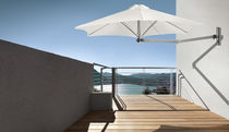 Wall-mounted patio umbrella / commercial / metal / swiveling