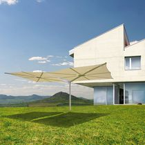 Double patio umbrella / commercial / aluminum / canvas