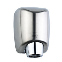 Fan hand dryer / wall-mounted / steel / high-speed