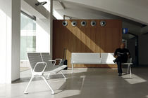 Metal beam chairs / plywood / polyurethane / 3-seater
