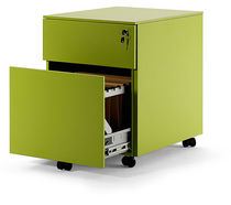 Metal office unit / 3-drawer / 2-drawer / on casters