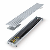 Electric convector / metal / with ventilator / linear