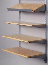 Wall-mounted shelf / contemporary / metal / for shops