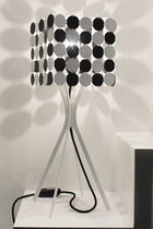 Table lamp / contemporary / steel / stainless steel