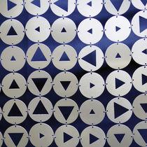 Geometric curtain / pleated / metal