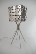 Table lamp / contemporary / stainless steel / lacquered steel