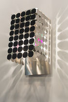 Contemporary wall light / stainless steel / painted aluminum / polished stainless steel