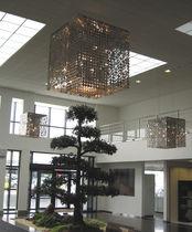 Contemporary chandelier / metal / halogen / commercial