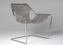 Contemporary armchair / stainless steel / cantilever