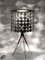 Table lamp / contemporary / polished stainless steel / brushed stainless steel