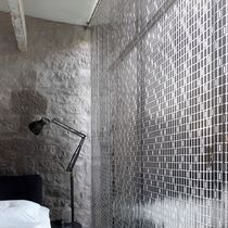 Geometric curtain / pleated / stainless steel / aluminum