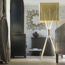 Floor-standing lamp / contemporary / steel / stainless steel
