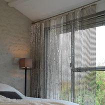Geometric curtain / pleated / stainless steel
