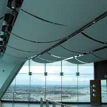 Tensile structure architectural membrane / for ceilings / interior / curved