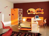 Unisex children's bedroom furniture set / orange