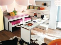 Pull-out bed / contemporary / wooden / child's unisex