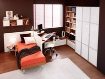 Single bed / contemporary / maple