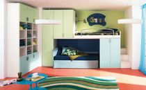 Bunk bed / contemporary / wooden / with storage compartment