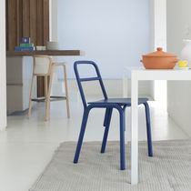 Scandinavian design chair / wooden / commercial