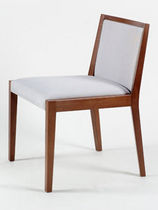 Contemporary chair / wooden / upholstered / commercial