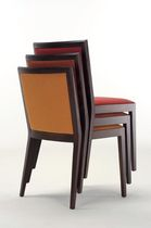 Contemporary chair / wooden / upholstered