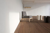 Contemporary fireside chair / oak / beech