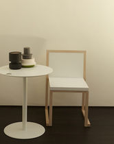 Contemporary chair / fabric / wooden / Corian®