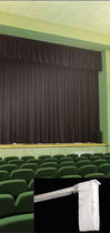 Motorized curtain track / for drapes / for stage curtains / commercial