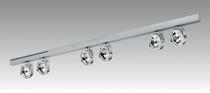 Halogen track light / linear / metal / commercial